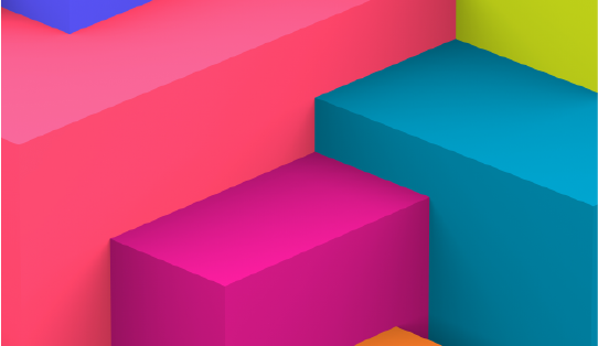 Bright coloured blocks