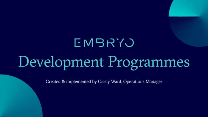 Embryo Development Programme