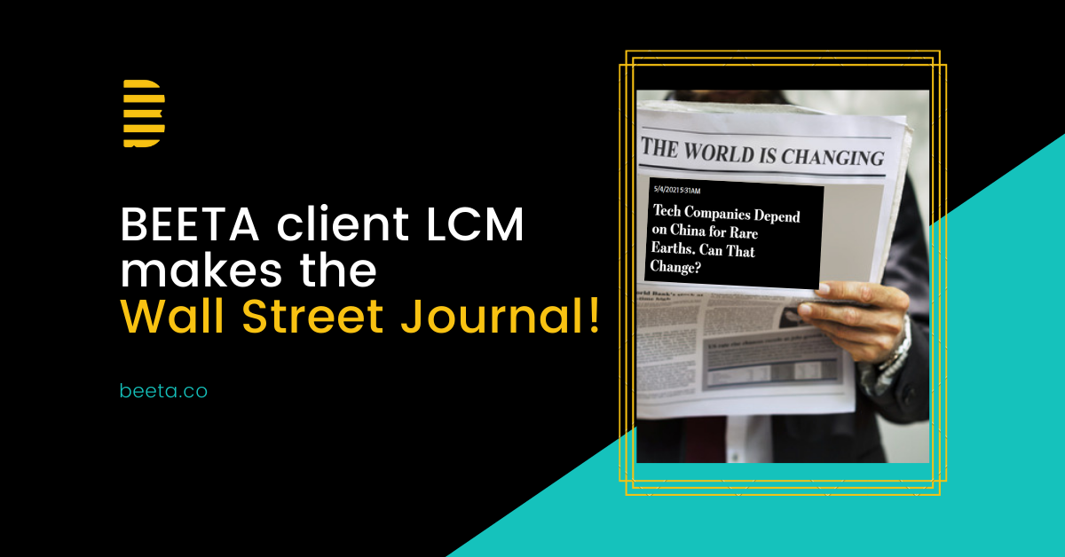 Beeta client LCM makes the wall street journal, newspaper and Beeta logo, automation, manufacturing, tech trends